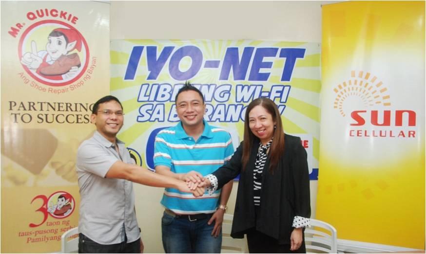 Sun Cellular, Mr. Quickie power Pasig City's public WiFi